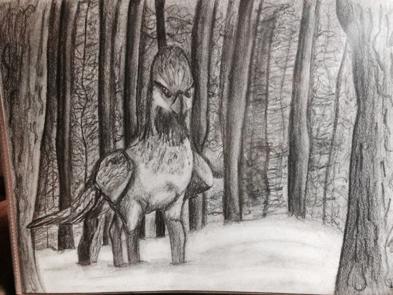 Graphite Drawings Harry Potter Creatures