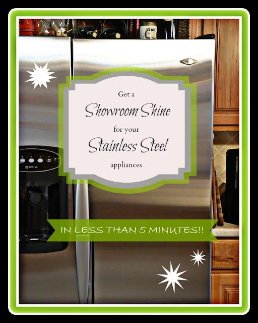 How to clean stainless steel appliances.  Simple and fast!