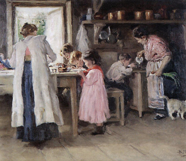 Маковский Владимир Егорович - На кухне. 1913