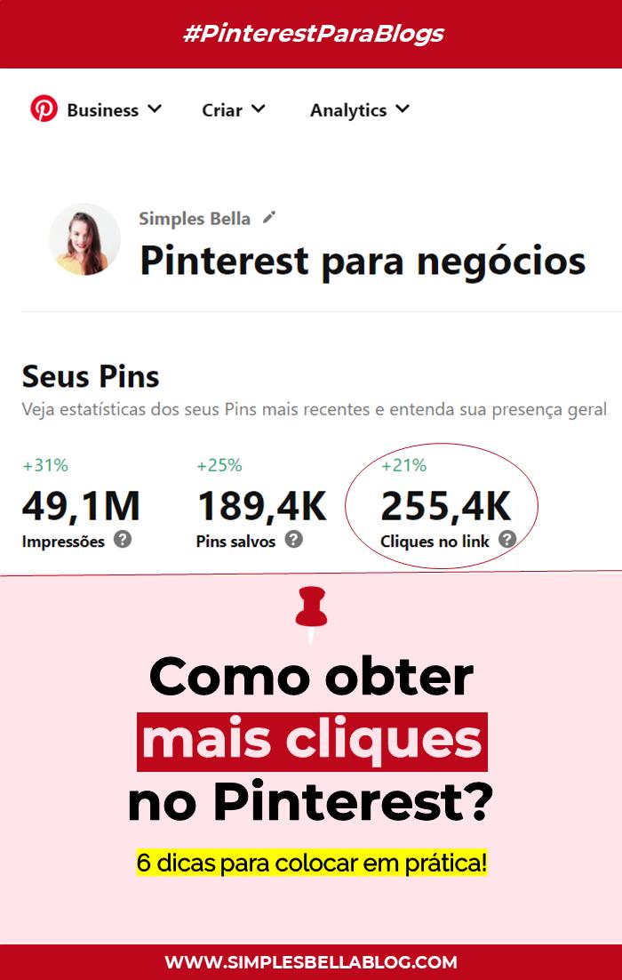 Como obter mais cliques em links no Pinterest?