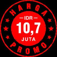 PROMO IDR 10,7 Juta