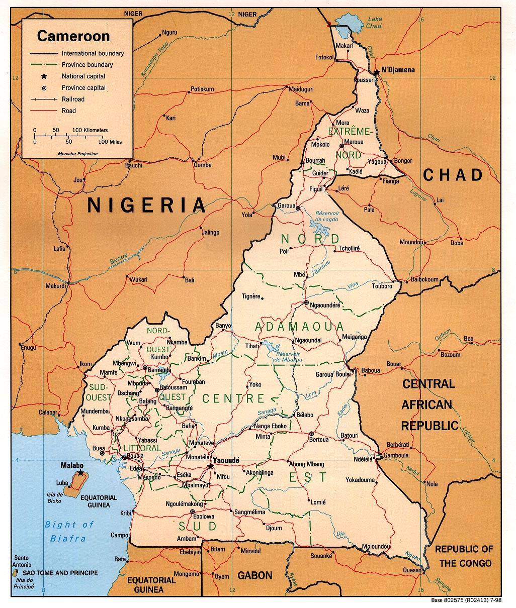 Mapas Geográficos de Camarões