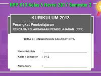 RPP K13 Kelas 5 Revisi 2017 Semester 2