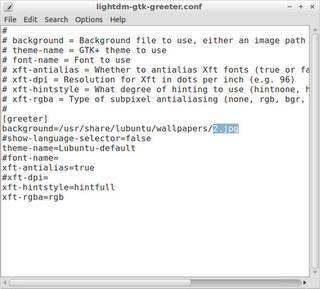 edit lightdm-gtk-greeter.configuration-file