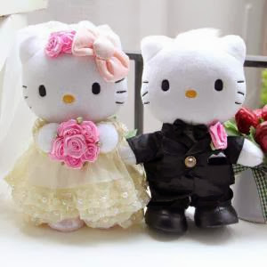 Boneka hello kitty wedding