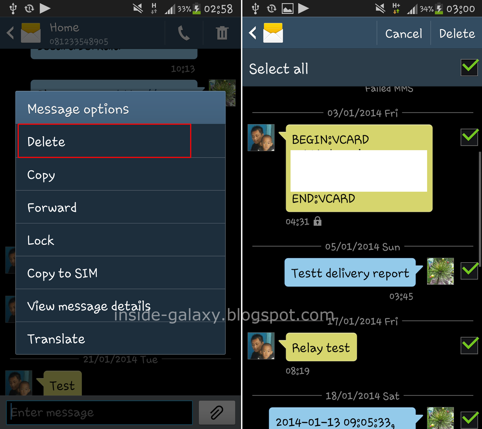 Samsung Galaxy S4: How to Delete Messages