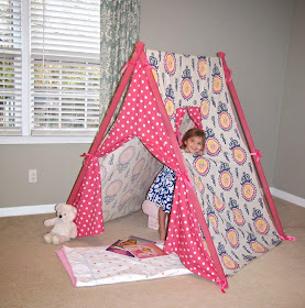 DIY kids A-frame play tent