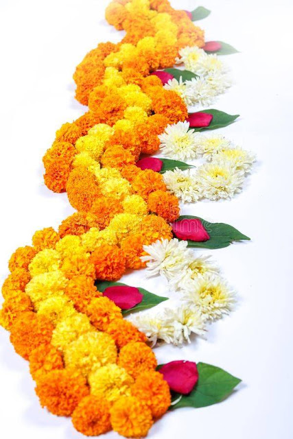 border flower rangoli design