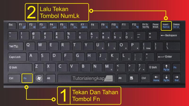 tutorialengkap 3 Cara Memperbaiki Keyboard error Huruf menjadi Angka pada Laptop