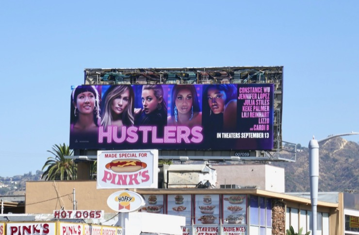 Hustlers film billboard