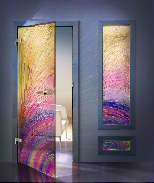 Glass interior doors provide added security