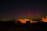 Zorza polarna sfotografowana w noc z 12 na 13.09.2017. Autor: Tomasz Jaworski. Okolice Szczecinka, zachodniopomorskie