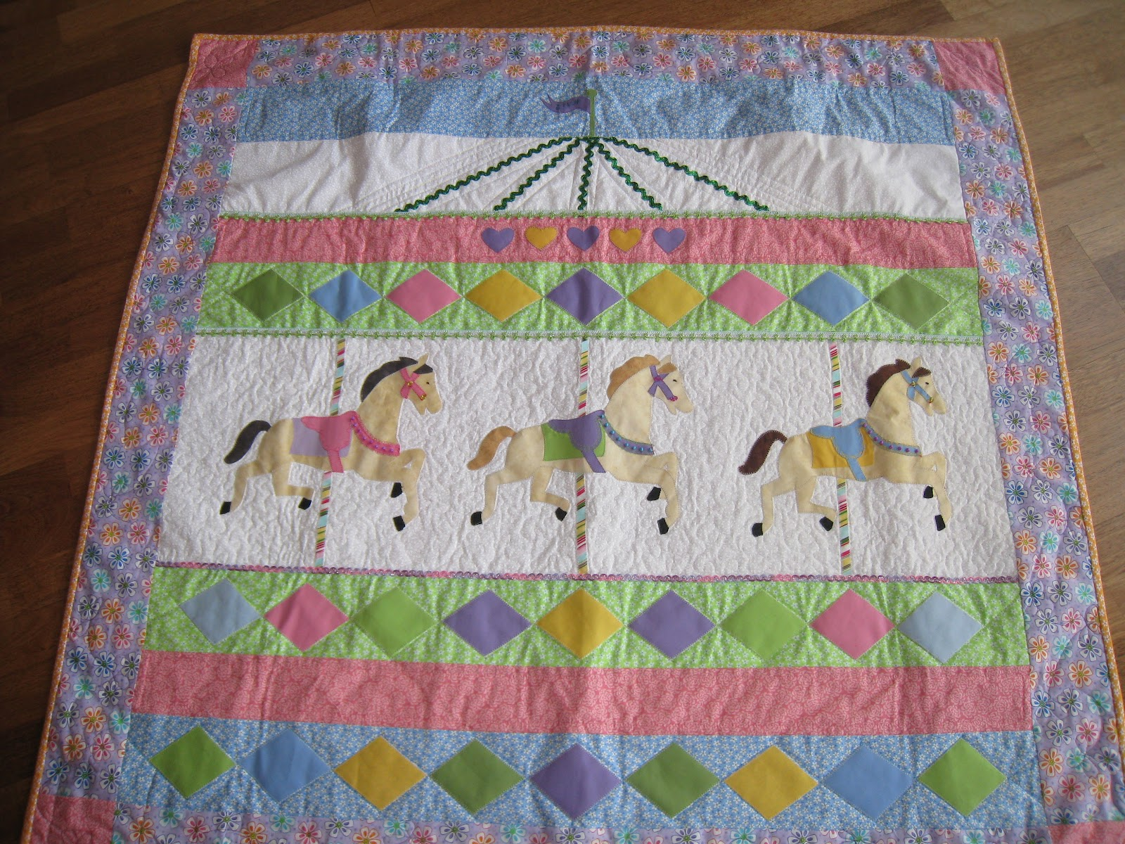 Sew Its Finished Carousel Quilt Finished