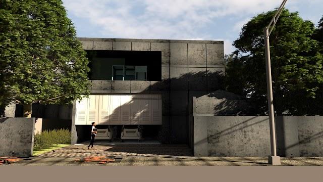 Settingan Vray Next exterior render Cabin Sampel