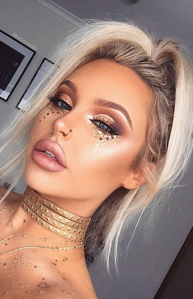 gold make up inspiration