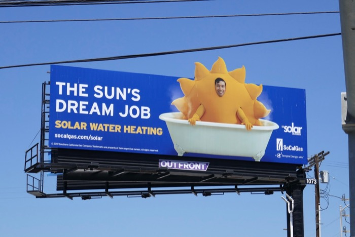 Solar Water Heating sun billboard