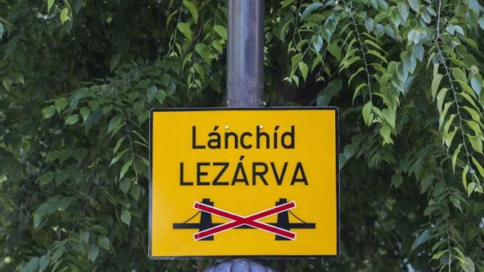 Bombát találtak a Lánchíd alatt
