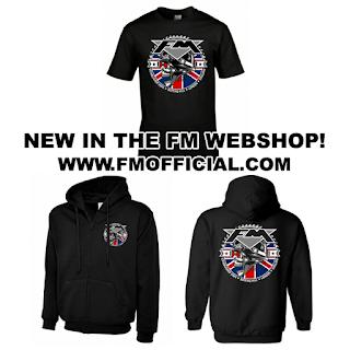 FM biker skull UK T-shirt and hoodie