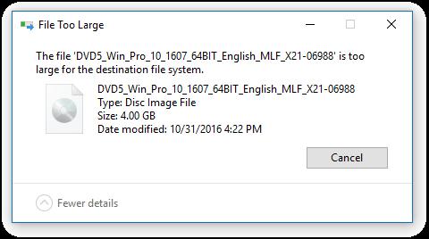 Solusi Copy File Besar ke Flashdisk (4 Giga+)