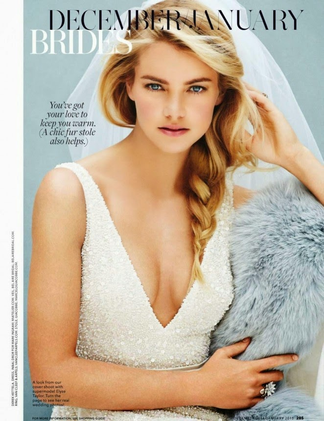 Elyse Taylor covers Brides USA December/January 2014