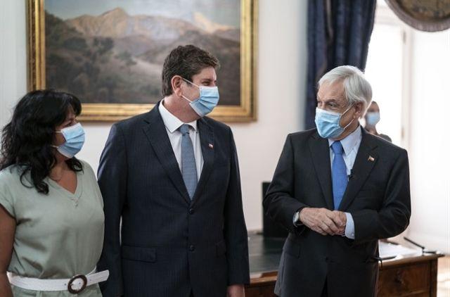 María José Abud, Rodrigo Cerda y Sebastián Piñera