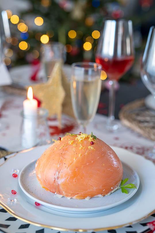 recette Dôme surprise au 2 saumons