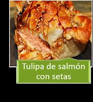 TULIPA DE SALMÓN CON SETAS
