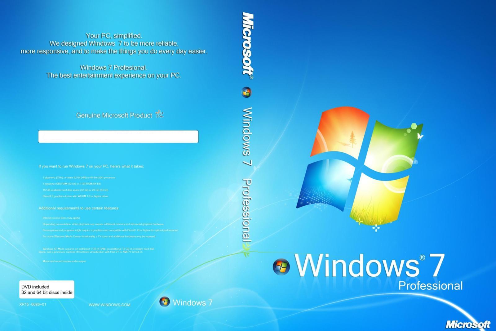 Windows 10 Pro Final Original Microsoft Vlsc: Windows 7 Pro SP1 X86/x64 PTBR