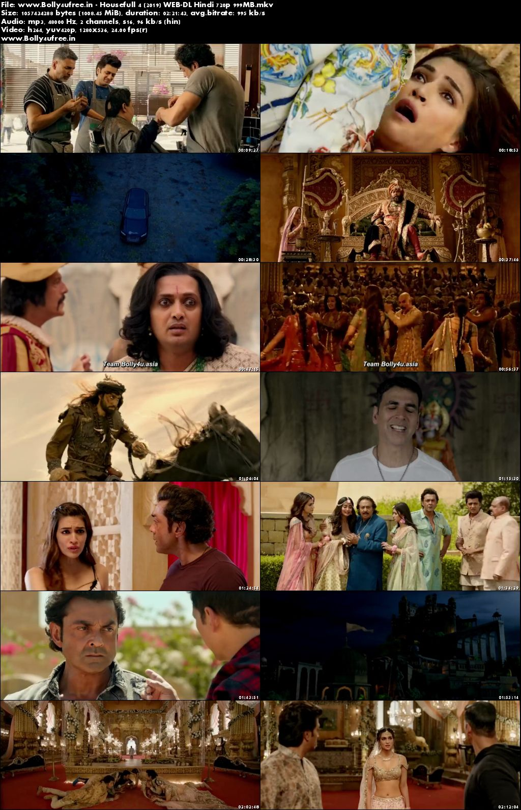 Housefull 4 2019 WEB-DL Hindi Movie Download 480p 400MB