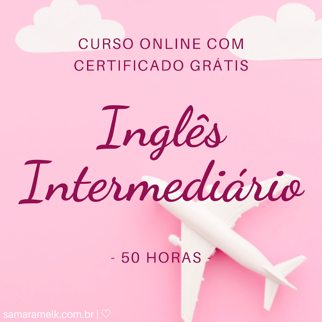 Curso gratuito online com certificado - Inglês Intermediário