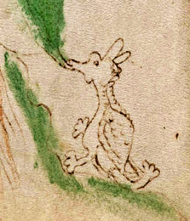A creature within the Voynich Manuscript