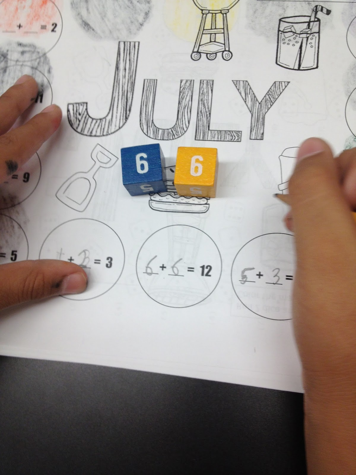 Autism Tank Differentiated Dice Worksheets