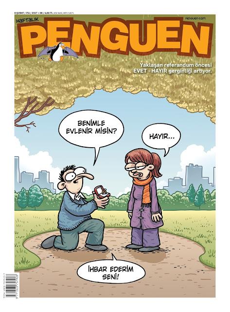 Penguen Dergisi | 9 Şubat 2017 Kapak Karikatürü