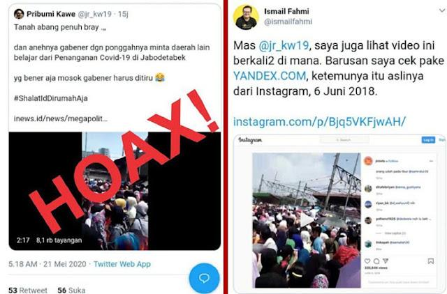 TERCYDUK! Anies Diserang Fitnah Video HOAX Keramaian Tanah Abang Saat Covid-19, Aslinya Video Tahun 2018
