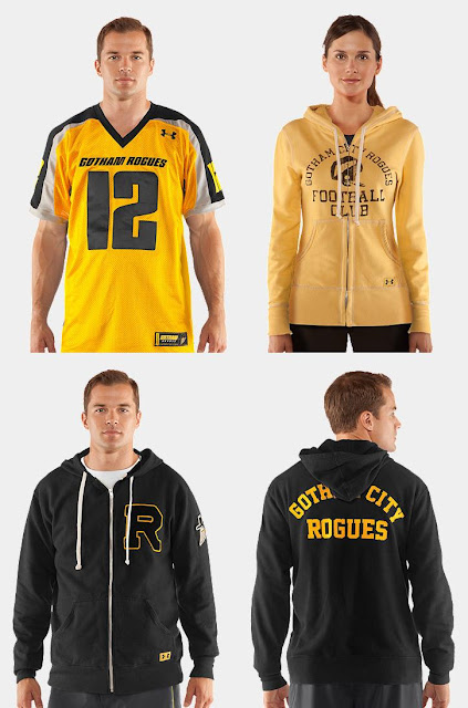 The Dark Knight Rises x Under Armour Gotham Rogues Collection - Football Jersey, Hoody & Fleece Hoody