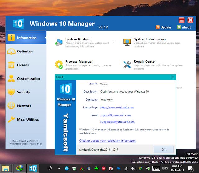Download Windows 10 Manager v2.3.4 - Phần mềm chăm sóc và quản lý Windows 10 (Full + Portable)