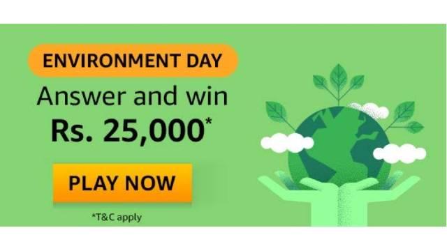Amazon Environment Day Quiz Answers - Win ₹25000 Pay Balance