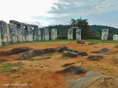 Foamhenge in Natural Bridge Virginia
