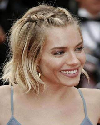 peinado con cabello corto con trenzas para el verano