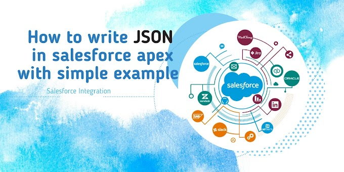 How to write JSON in salesforce apex with simple example