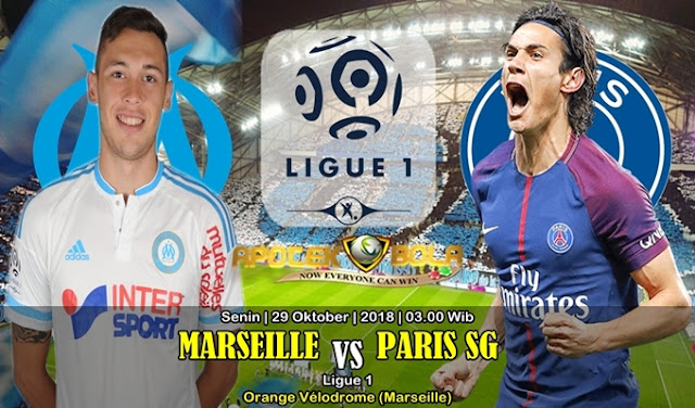 Prediksi Marseille vs Paris SG 29 Oktober 2018