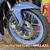 Sơn bánh mâm xe máy Winner màu xanh nhám cực đẹp
