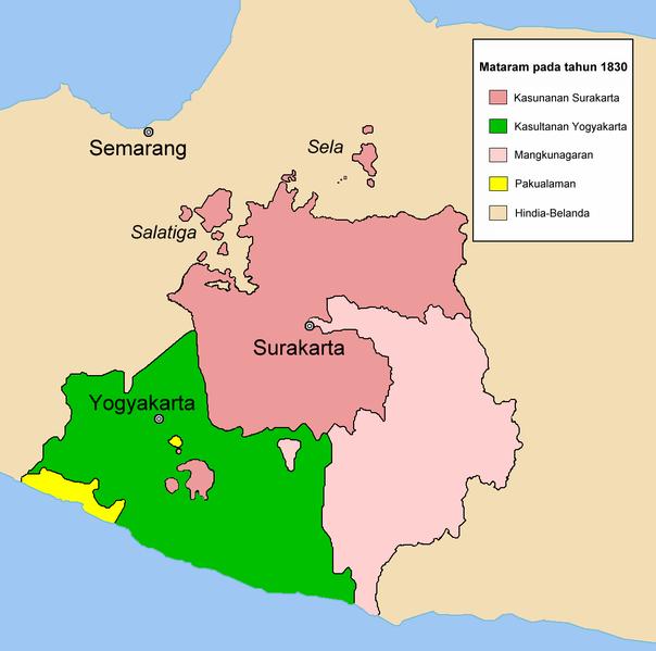 Wilayah Pakualaman yang Berwarna Kuning