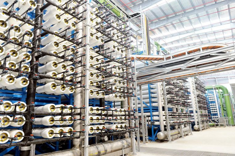 Tuas Desalination Plant can produce up to 30 million gallons a day (mgd) of drinking water.