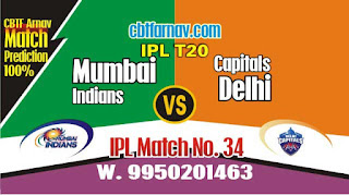 MI vs DC IPL2019 34th Match Prediction Today Who Will Win
