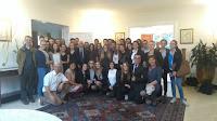 Les jeunes avec l'ambassadeur de France en Colombie