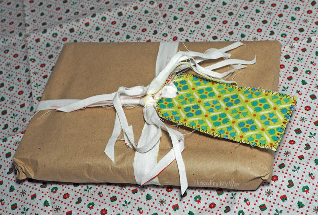 Easy Christmas Gift Tags... learn how to make with materials on hand ~ TUTORIAL Threading My Way