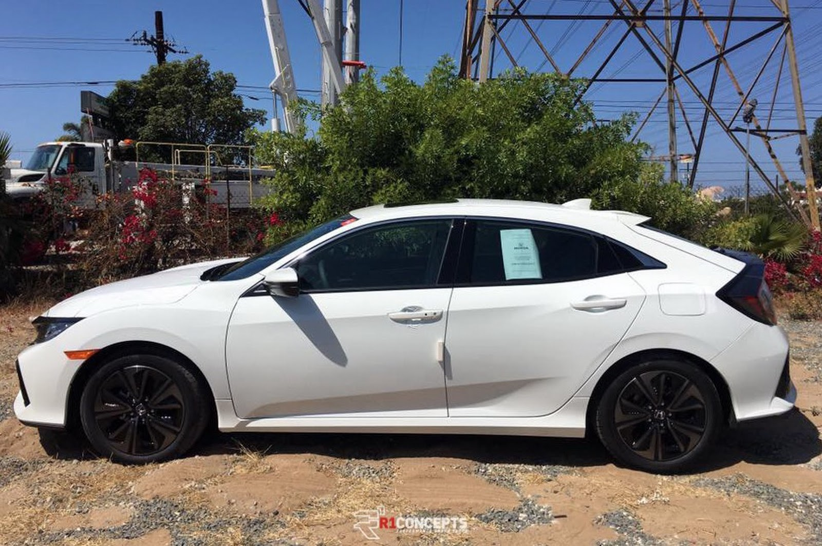 white civic hatchback spotted 10th gen civic forum