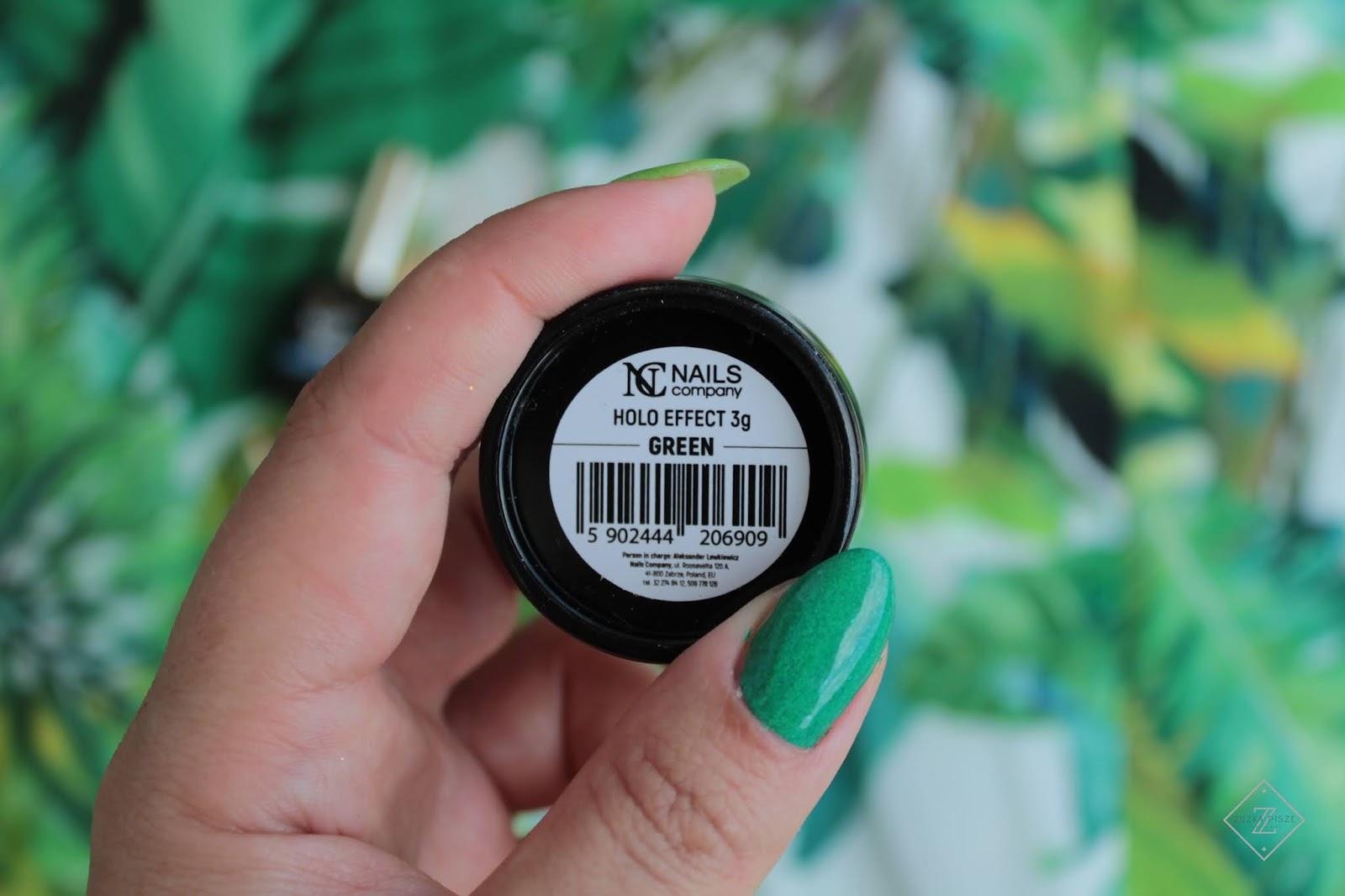 Pyłek NC Nails Company HOLO GREEN