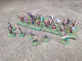 Gaulish tribal levy and slingers in 15mm